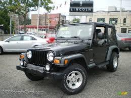 black jeep wrangler 2003 jeep wrangler sport 4x4 in black clearcoat 307238