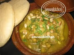 cuisine de sousou tajine au poulet et pois chiches chicken tagine with peas