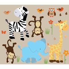 Animal Wall Decor For Nursery Wall Decor Ideas Nursery Jungle Animal Wall Themes