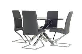 chrome round dining table modrest pyrite modern smoked glass chrome round dining table