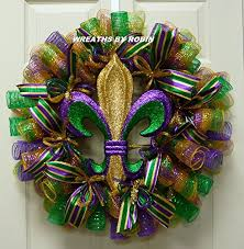 cheap mardi gras decorations mardi gras fleur de lis wreath mardi gras