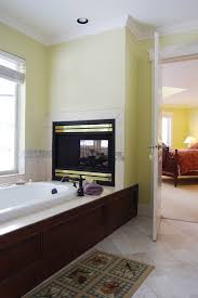Bedroom Bathroom 20 Gorgeous Two Sided Fireplaces For Your Spacious Homes