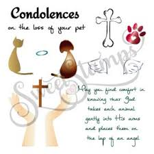 pet condolences af4409 pet condolences clear st set