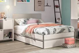 wooden meubles wooden grey bed frame beds meubles gautier
