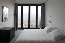 floor to ceiling windows glass write spell bedroom with haammss