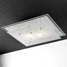 plafoniera soffitto plafoniera pg perla c67 2 e27 led 34x34 vetro serigrafato quadrata
