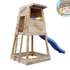 wickey climbing frame pirates nest sandpit wave slide climbing