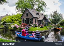 Giethoorn Holland Homes For Sale by Giethoorn Netherlands August 13 2013 Unknown Stock Photo 262603463