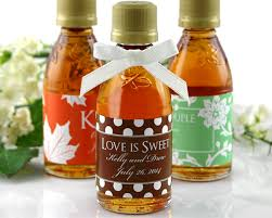 maple syrup wedding favors personalized maple syrup favors my wedding favors