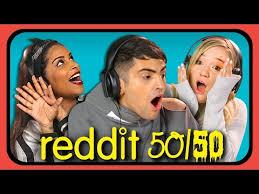 Challenge React Youtubers React To Reddit 50 50 Challenge