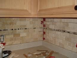 Subway Tile Backsplash White Cabinets Antique White Cabinets With Subway Tile Backsplash On Kitchen K C R