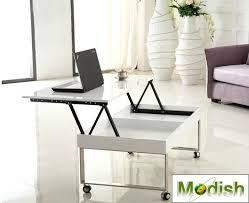 lift top coffee table with wheels lift top coffee table movable with casters gloss white finish