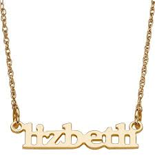 14kt gold name necklace personalized women s 14kt gold print name necklace 18 walmart