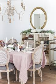 french country fall dining room so much better with age