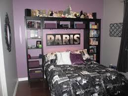 Eiffel Tower Bedroom Decor Bedroom Cute Paris Themed Bedding On Black Bed Plus Nightstand On