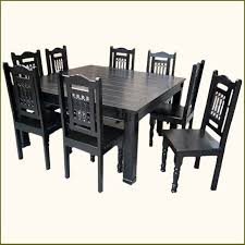 Square Wood Dining Tables Captivating Black Wooden Dining Table And Chairs Black Dining Room