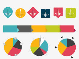 bureau des statistiques carte statistique de vecteurs circulaires et coloré statistiques