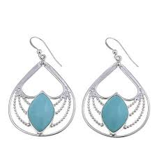 turquoise drop earrings king citos turquoise sterling silver drop earrings