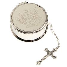 First Communion Jewelry Box Catholic Rosary Children U0027s Rosaries Communion Confirmation Autom