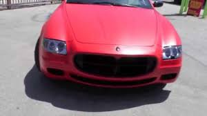 maserati wrapped maserati quattroporte wrapped in satin red by dbx youtube