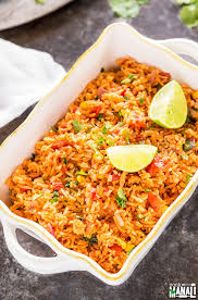 Main Dish Rice Recipes - vegetarian mexican rice cook with manali