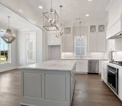 white kitchen cabinets grey island bardwell homes baton la modern kitchen