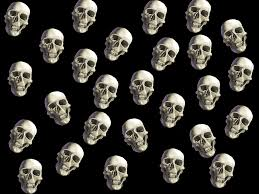 repeating halloween background skull backgrounds group 77