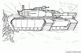 coloring page abrams in action
