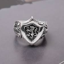 men rings king lion heart sterling silver mens rings callvogue