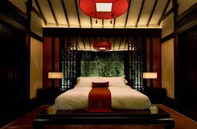bedroom theme ideas oriental theme with red round chandeliers and