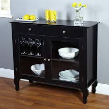 8 Black Dining Room Buffet Sideboard Server Cabinet With Glass Doors