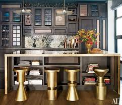 island kitchen stools 11 kitchens where stools are statement pieces photos