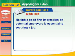 Making A Job Resume by Read To Learn How To Prepare For And Complete A Job Application