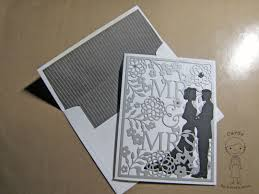 mr mrs wedding card using taylored expressions cutting plate
