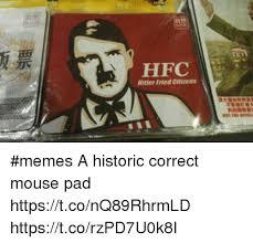 Meme Mouse Pad - hfc hitler fried citizens memes a historic correct mouse pad