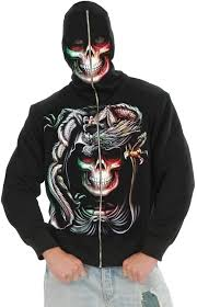zip mask halloween amazon com child boys serpent skull black hoodie sweatshirt clothing