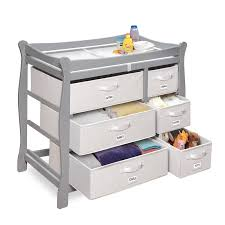 Sleigh Changing Table Badger Basket Sleigh Changing Table With Six Baskets 689853353879