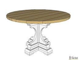 Plans For Round End Table by Farmhouse Style Round Pedestal Table Her Tool Belt