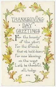 vintage thanksgiving day postcard green orange yellow colored