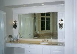 Frameless Bathroom Mirror Large Frameless Wall Mirror Akapello