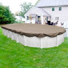 Backyard Pool Sizes by Pool Mate Sandstone 21 Ft X 41 Ft Pool Size Oval Sand Solid