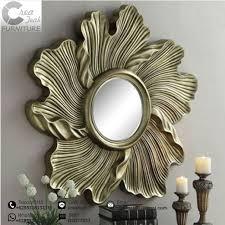 Tempat Jual Cermin Hias Di Jakarta pigura cermin ukir daun selada createak furniture createak furniture