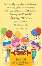 invitation greeting kids birthday invitation wording plumegiant