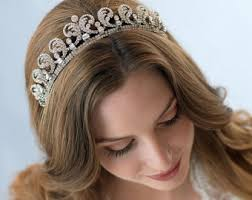 wedding tiara wedding tiara etsy