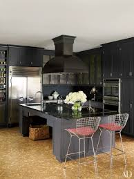 blue kitchen cabinets with granite countertops 25 black countertops to inspire your kitchen renovation