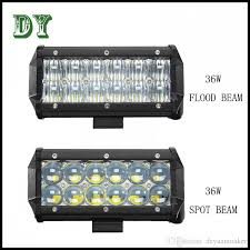 led security light bar 7inch 36w for cree 5d led work light bar for indicators motorcycle