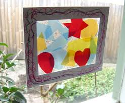 Kids Stained Glass Craft - stained glass window craft ideas day dreaming and decor