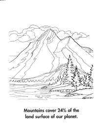 mountain coloring page coloring pages online