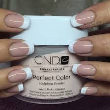 white tip with white powder and medium pink powder french