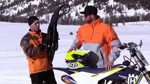 motocross snow bike 2017 timbersled snow bike first ride review cycle world